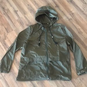 Jackets & Blazers - Green Windbreaker, Simple.  Size Medium